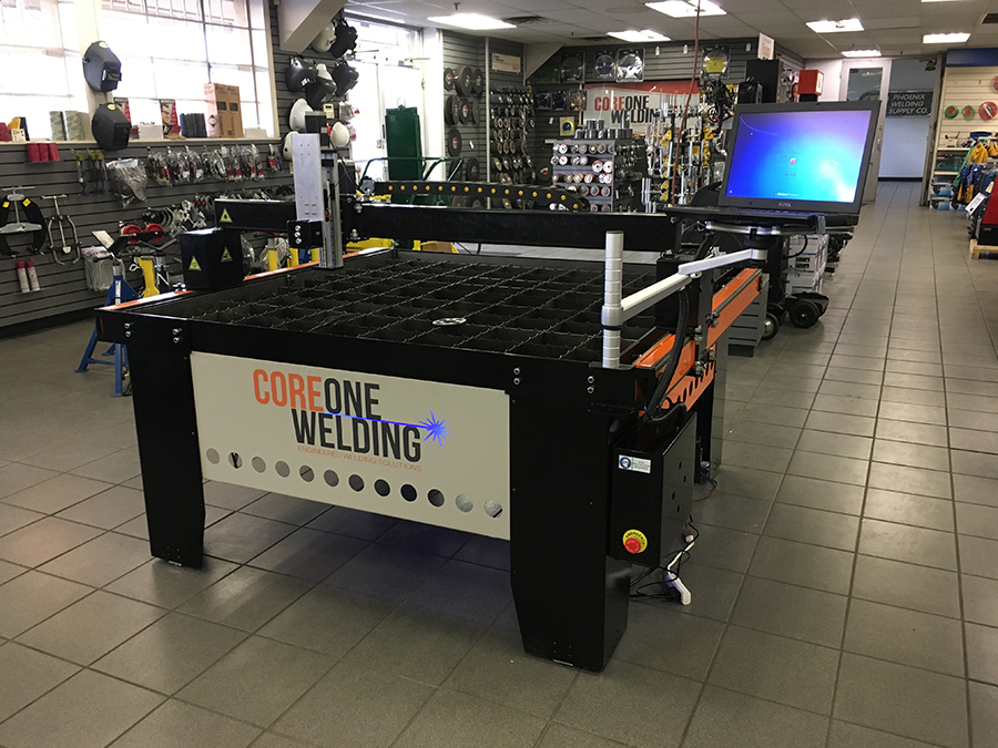 CNC Plasma cutting table on display in store 6