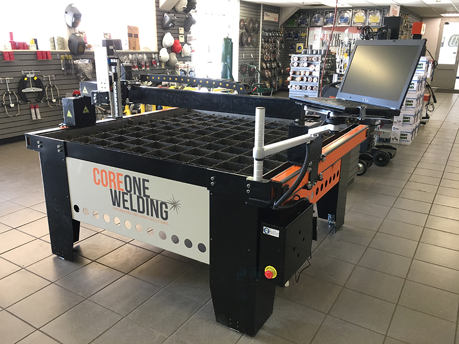 CNC Plasma cutting table on display in store 2