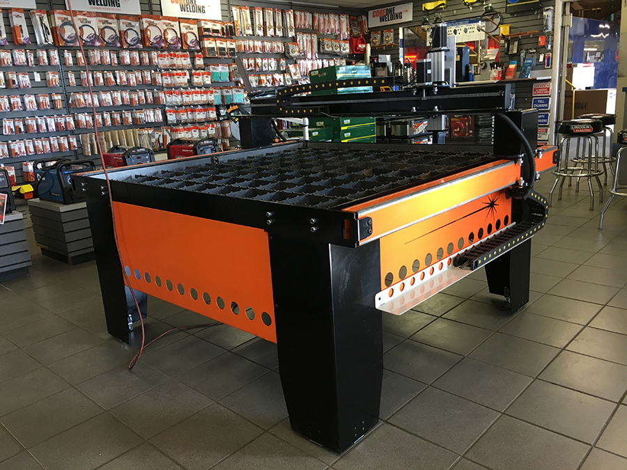 CNC Plasma cutting table on display in store 5