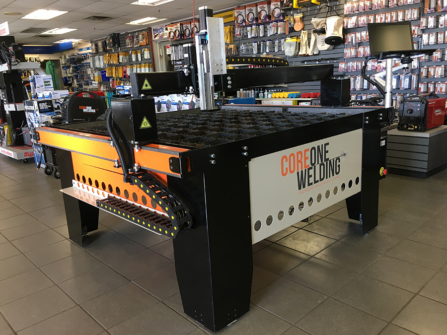 CNC Plasma cutting table on display in store 4