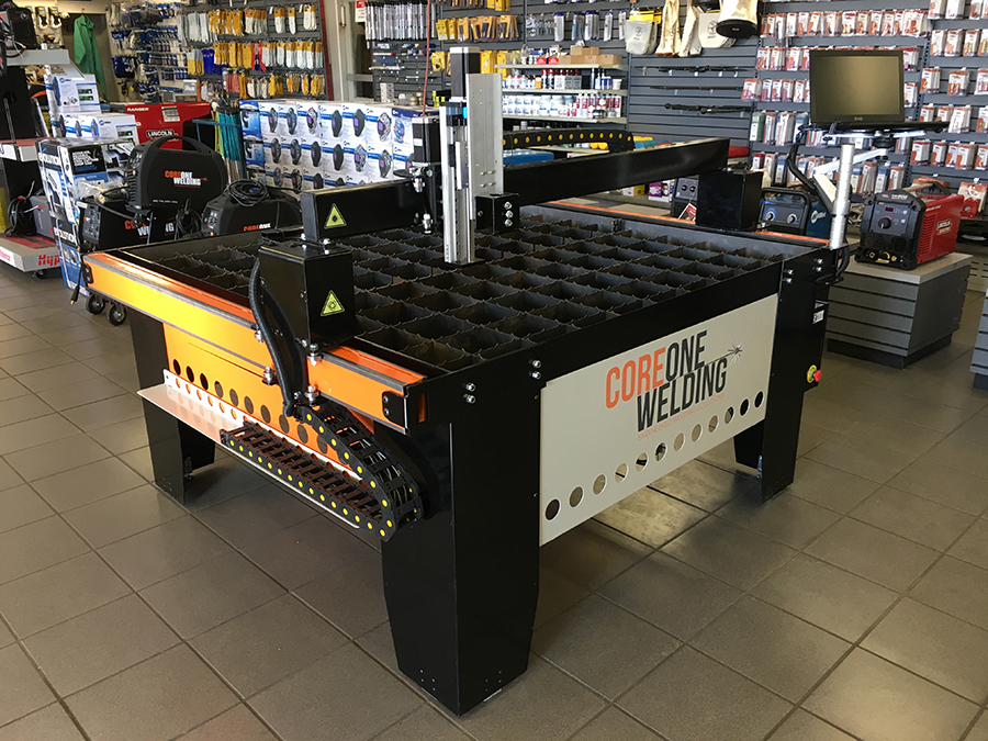 CNC Plasma cutting table on display in store 3