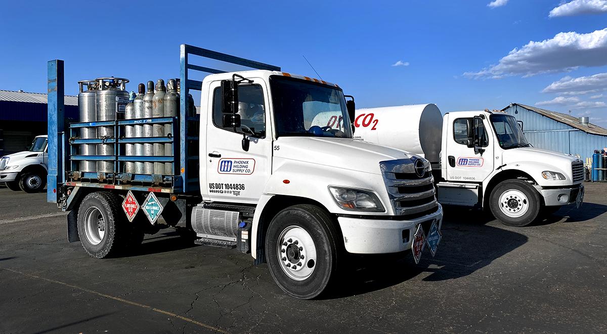 cylinder delivery trucks