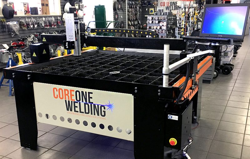 CNC plasma cutting table